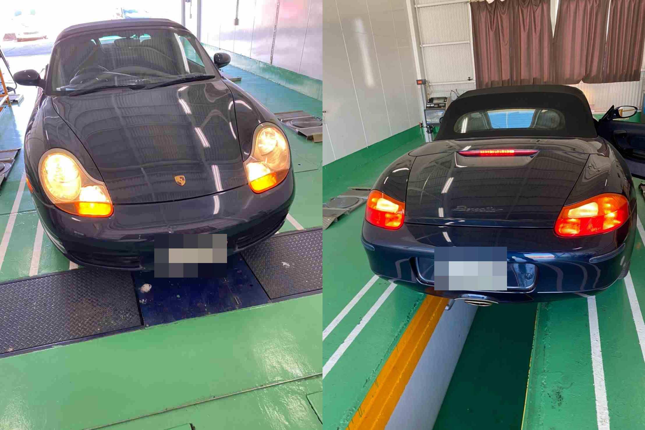 H11 ポルシェ ボクスター 車検(オイル、ベルト、ヘッドライト、エアコン)