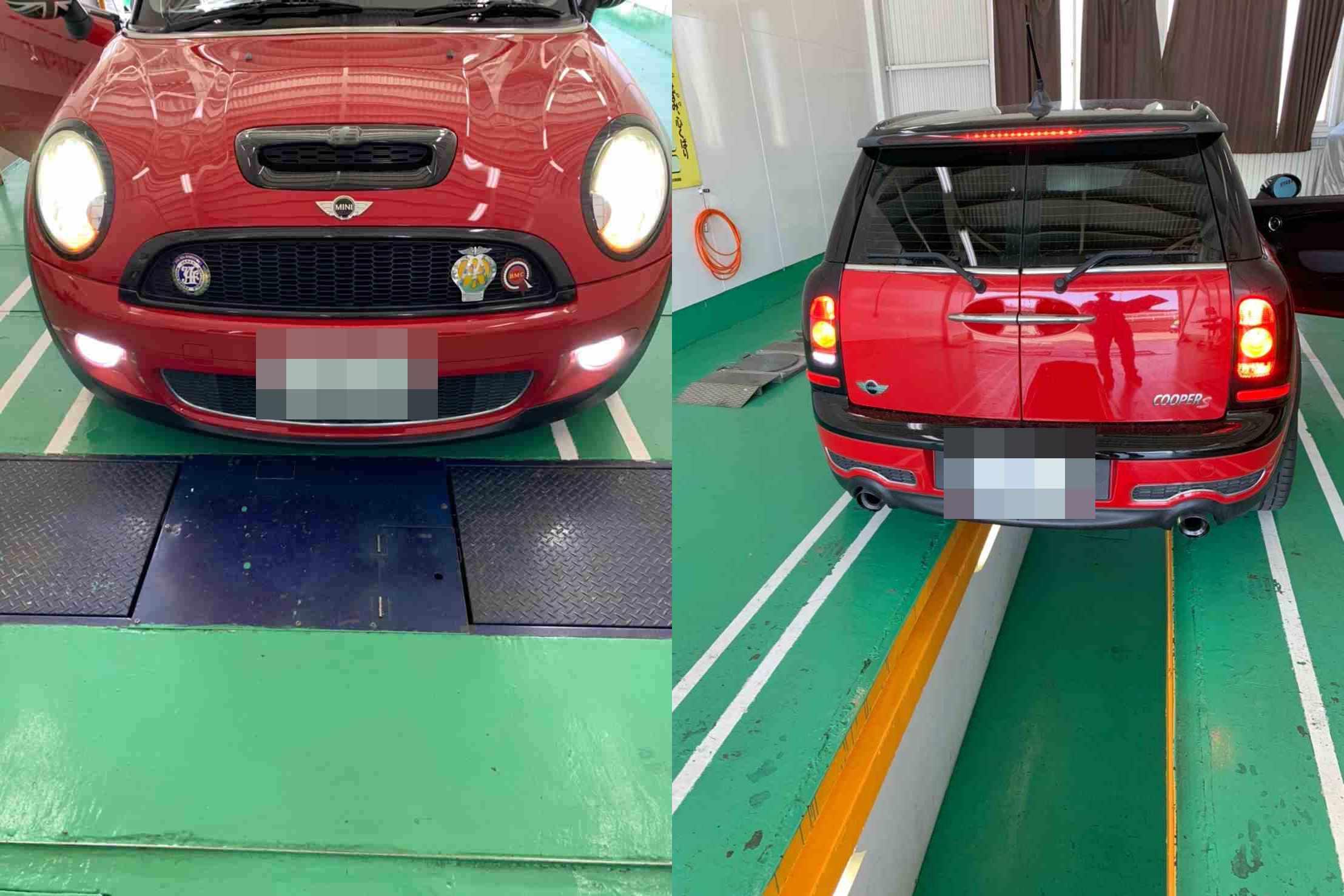 H20 BMW MINI 車検整備(エンジンオイル、エレメント、ブレーキオイル、ウォッシャー液、パンク修理剤)