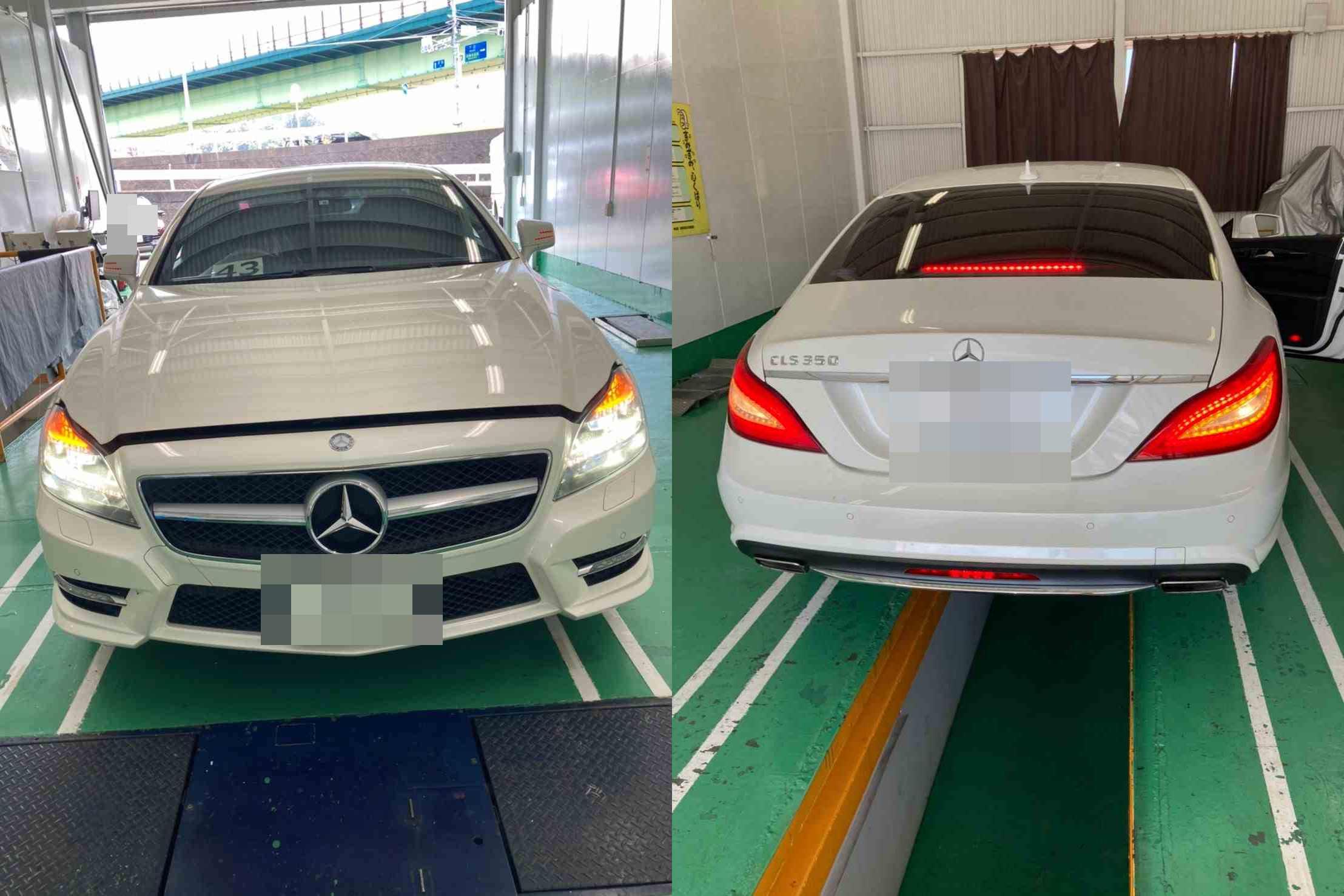 H24 メルセデスベンツ CLSクラス 車検整備(ブレーキオイル、ブレーキメンテナンスキット)