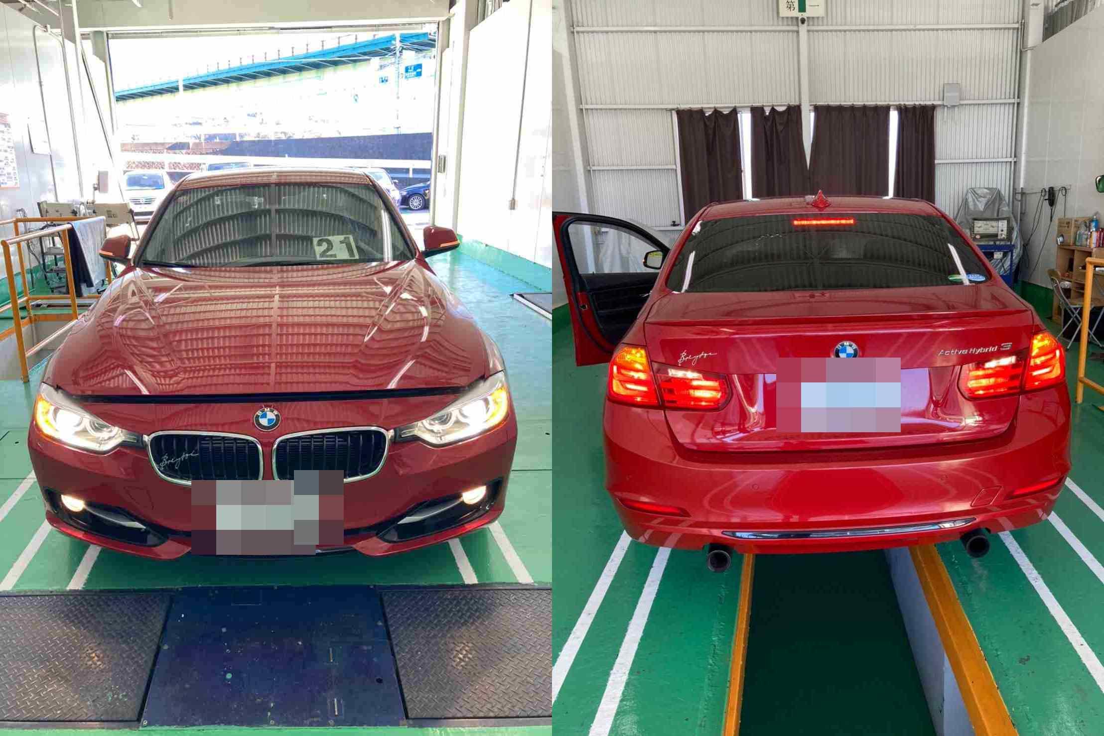 H24 BMW アクティブハイブリッド3 ブレーキ警告灯点灯、左右ドアランプ不灯